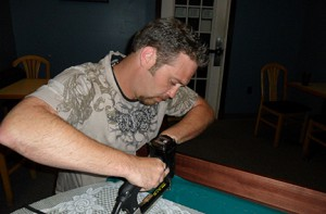 Pool table installation services Blue Fox Billiards Winchester VA