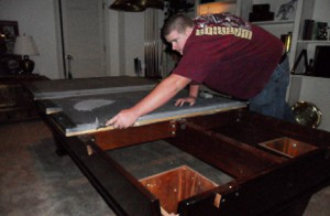 pool table installation 3